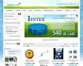 Онлайн магазин за басейни, сауни и СПА оборудване - изграждане и поддръжка.